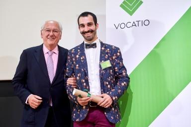 M. Vaxelaire, Président de la Fondation, et M. Sander Miesse
