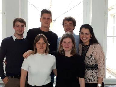 Antoine Delens, Stefan Van Laer, Amaury Fraenkel, Lara Rauwers, Sofie Declerck, Sarah El Amoury